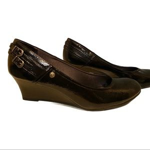 Life Stride Patent Leather Wedge Heel Size 7